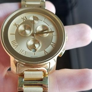 Movado Bold Gold Chronograph ladies watch
